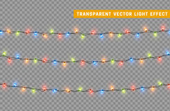 Garlands, Christmas decorations lights effects. royalty free illustration