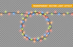 Garlands, Christmas decorations lights effects. Royalty Free Stock Image