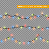 Garlands, Christmas decorations lights effects. Stock Photo