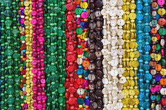 Garlands of colored stones Stock Image