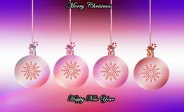 Garlands with decoration and light Royalty Free Stock Images