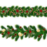 Garlands of fir tree Royalty Free Stock Photography