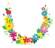 Garlands of flowers Royalty Free Stock Images