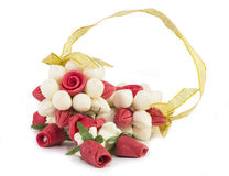 Garlands of flowers. Made from soap isolated on white Stock Image