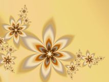 Garlands of fractal flowers. With copy space Stock Photos