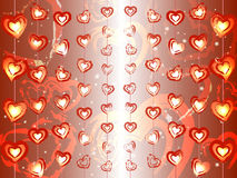 Garlands of hearts Royalty Free Stock Photos