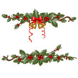 Garlands of holly Royalty Free Stock Photography