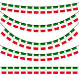 garlands with italian national colors Stock Images