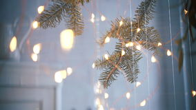 Garlands, light decorations stock video
