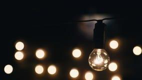 Garlands of lights stock video