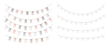 Free Garlands Of Lamps And Party Flags Stock Photos - 108969303