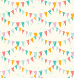 Garlands pattern Royalty Free Stock Images