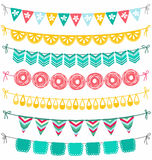 Garlands set Stock Photo