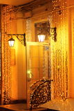 Garlands of shimmering night Stock Photo