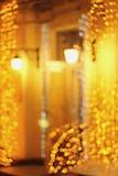 Garlands of shimmering night Stock Photos