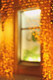 Garlands of shimmering night Royalty Free Stock Photo