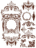 Garlands and swags ornament design elements Royalty Free Stock Photography
