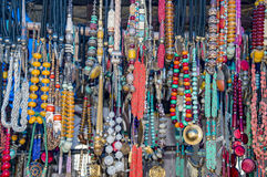 Garlands of tantric beads. Of different colors Stock Photo