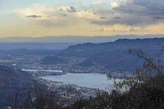 Garlate See und Adda-Fluss, Italien Stockfotografie
