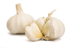 Garlic. S over a white background Royalty Free Stock Photo