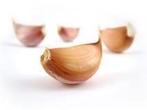 Garlic. Close-up isolated on white Stock Photo