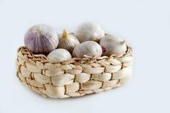 Garlic. Chinese solo garlic on white background Stock Photo