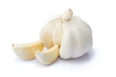 Garlic. On white background with clipping path Stock Photo