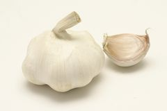 Garlic. Against a white background Royalty Free Stock Photography