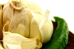 Garlic. With Chilli stock photography
