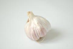 Garlic. The garlic isolated on the white background Stock Photo