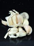 Garlic. A few cloves of garlic royalty free stock photos