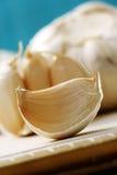 Garlic. Close-ups of garlic - healthy eating stock photo