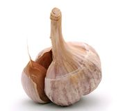 Garlic. Isolated on white background Royalty Free Stock Photos