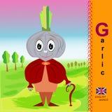 garlic Alfabeto inglês ABC Imagem de Stock