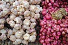 Garlic&onion Lizenzfreie Stockfotos