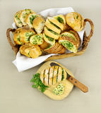 Garlic And Herb Bread Stock Images