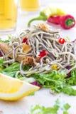 Garlic Angulas - Spanish Tapas stock photo