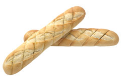 Garlic baguette. Closeup on white background Stock Photo