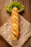 Garlic baguette. Royalty Free Stock Images