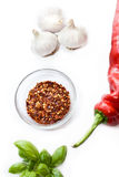Garlic basil and paprika Royalty Free Stock Photo