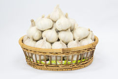 Garlic basket Royalty Free Stock Photo