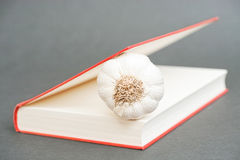 Garlic book Stock Photography