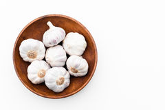 Garlic in a bowl Royalty Free Stock Photography