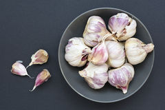 Garlic bowl Royalty Free Stock Photos
