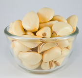 Garlic in a bowl, ready for cook Stock Photos