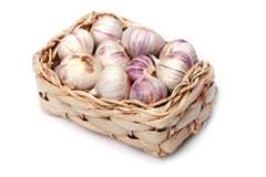 Garlic in box Stock Photography