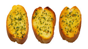 Garlic bread. Close up of freshly toasted garlic bread royalty free stock image