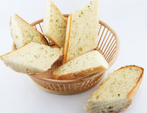 Garlic bread. For lunch every day Stock Photography