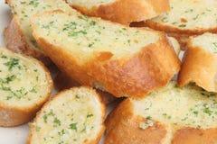 Garlic Bread. Close-up of crusty home-made garlic bread Stock Image