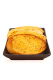 Garlic bread against white Royalty Free Stock Photos